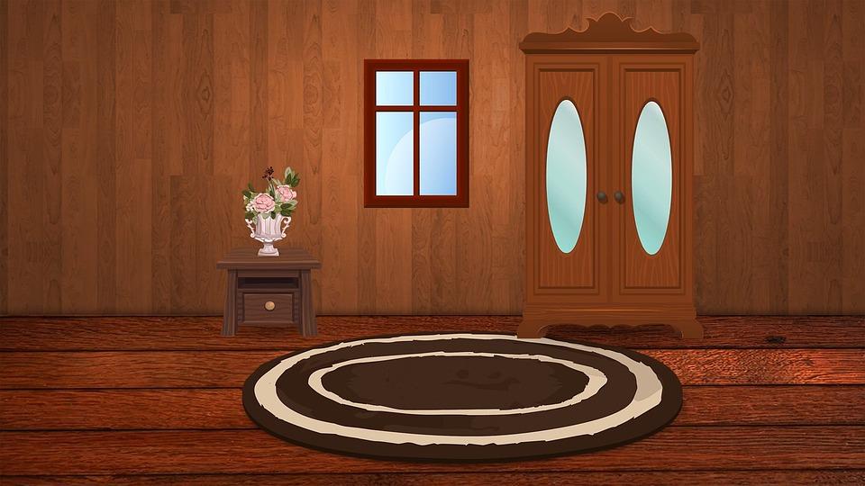 skříň v interiéru